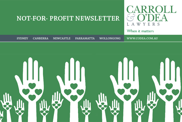 Not-For-Profit Newsletter - April 2013