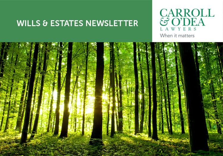 Wills & Estates Newsletter - July 2019