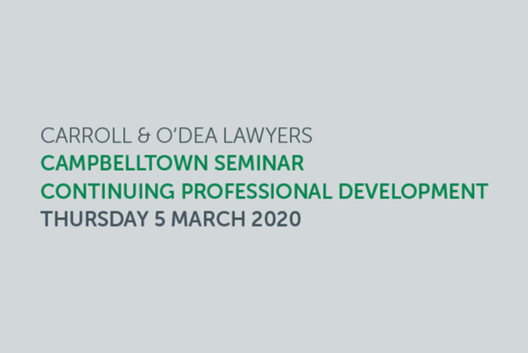 Campbelltown to host legal and academic specialists in personal injury and compensation law – Carroll & O'Dea Lawyers