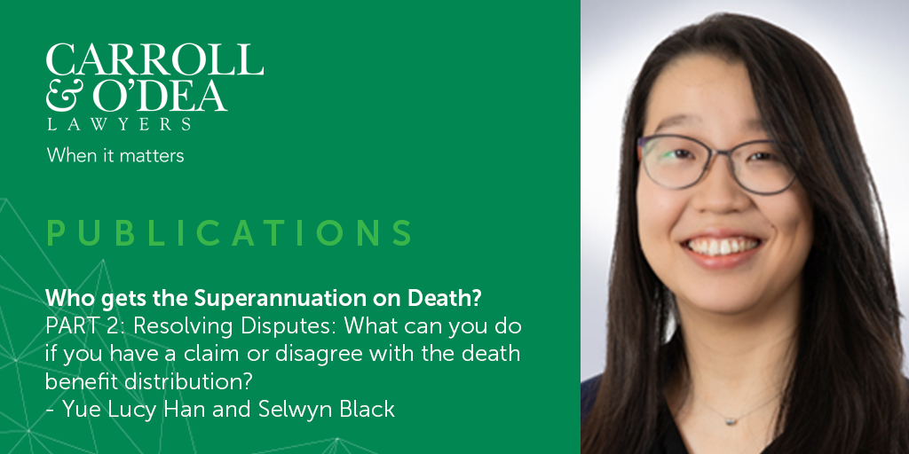 2021 Update: Who gets the Superannuation on Death? - Part 2
