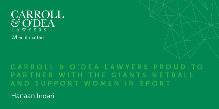 Carroll & O'Dea Lawyers proud to partner with Giants Netball and support women in sport