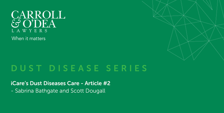iCare's Dust Diseases Care - Article #2