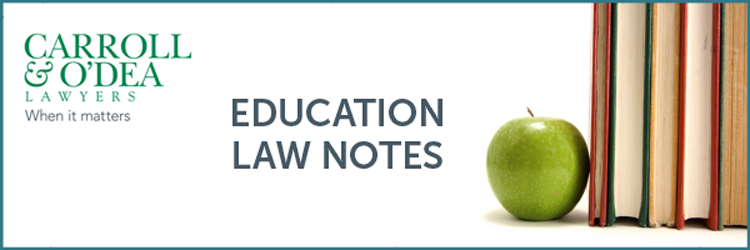 Education Law Notes - Term 2, 2021